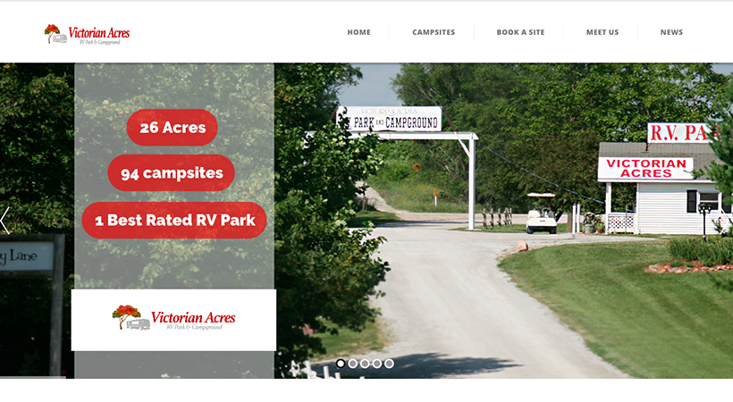 Victorian Acres RV Park website project