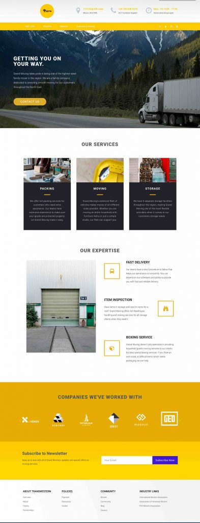 Grand Movers Custom Web Design